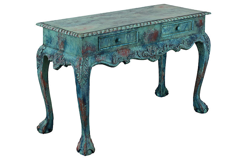 Chippendale Carved Console Table