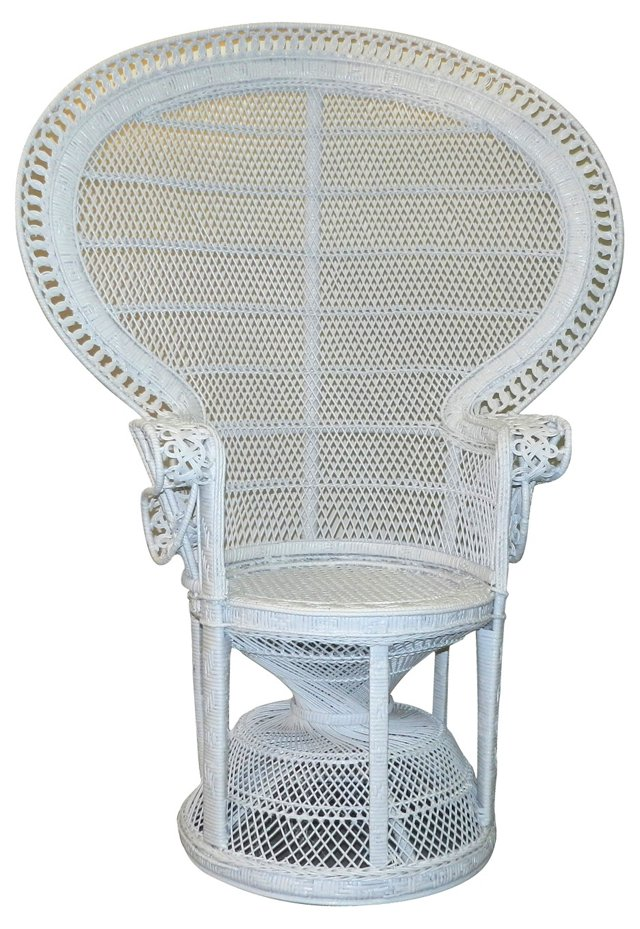1960s Wicker Throne Chair