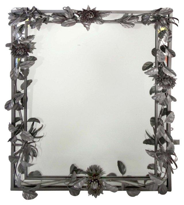 Midcentury Floral-Design  Mirror