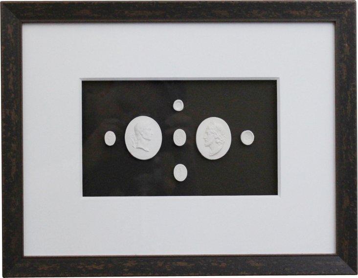 Framed Horizontal Intaglios