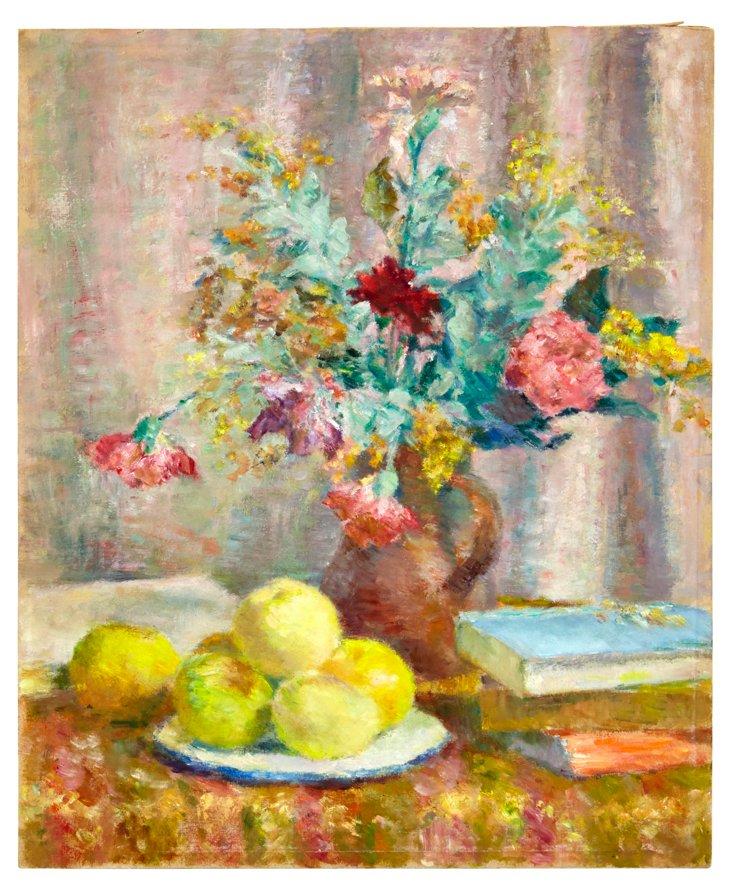 Wildflowers w/ Books & Apples