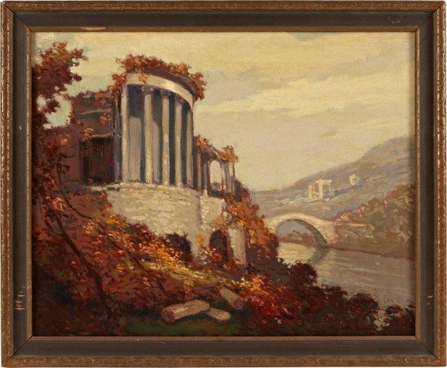 Classical Ruins & River