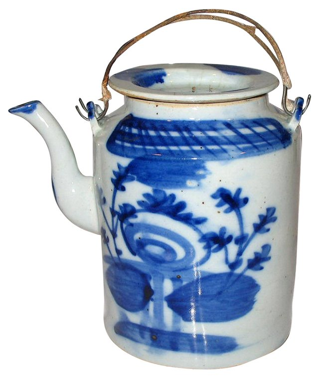 Blue & White Porcelain    Teapot