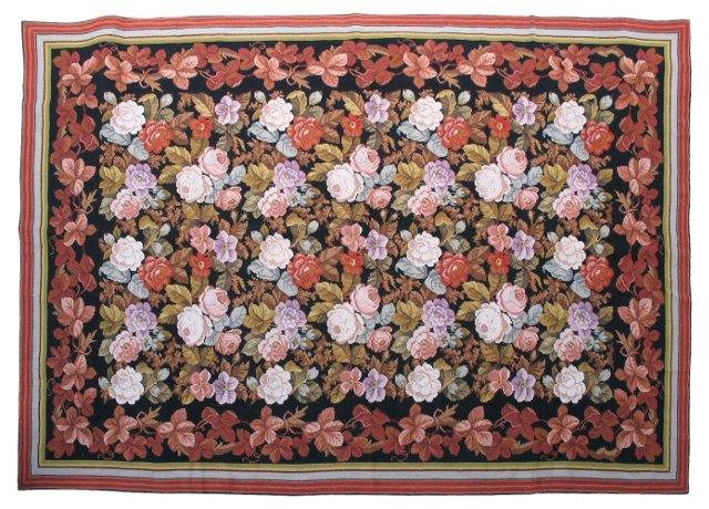"Needlepoint Flower Rug, 8'9"" x 6'4"""