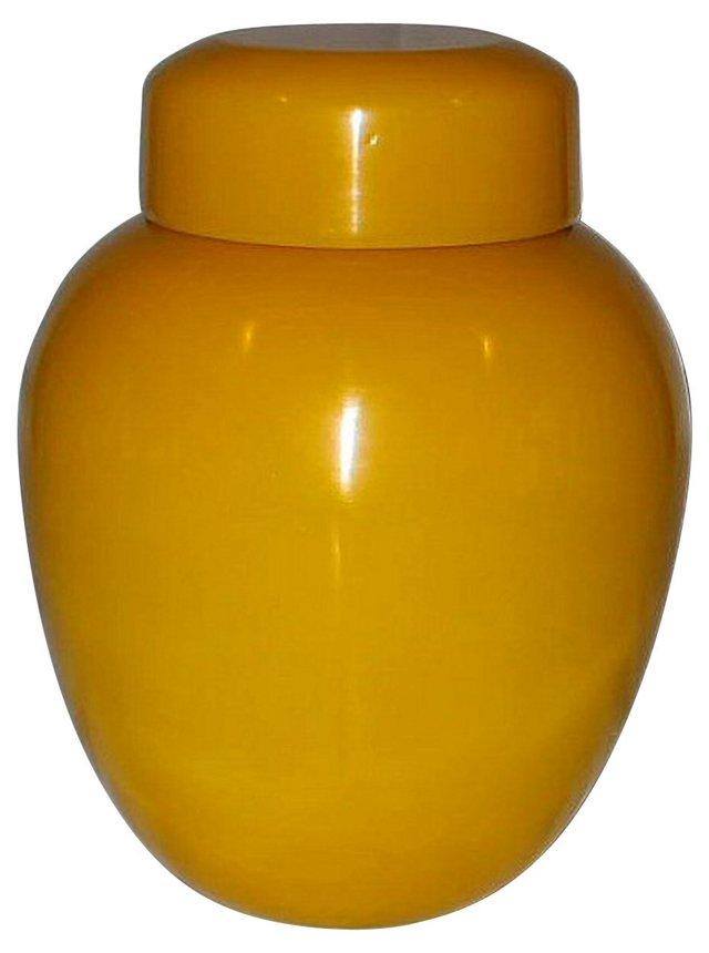 Lidded Gold Peking Glass Jar
