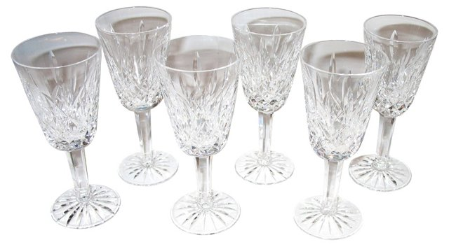 Waterford Wine Glasses, S/6