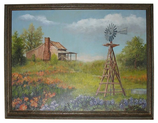 Flowers by the Windmill