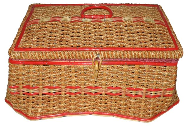Woven Sewing Basket