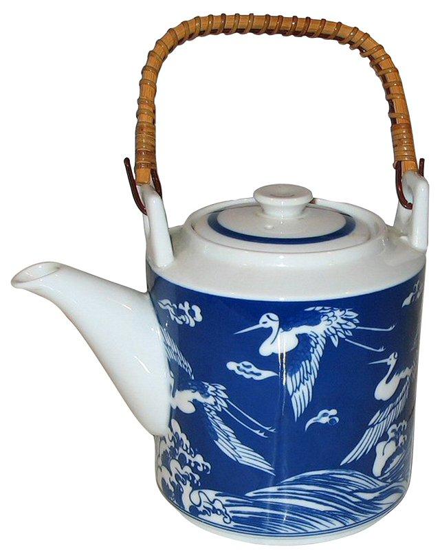 Blue & White Japanese Teapot