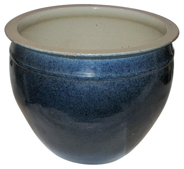 Canton Blue Porcelain Planter