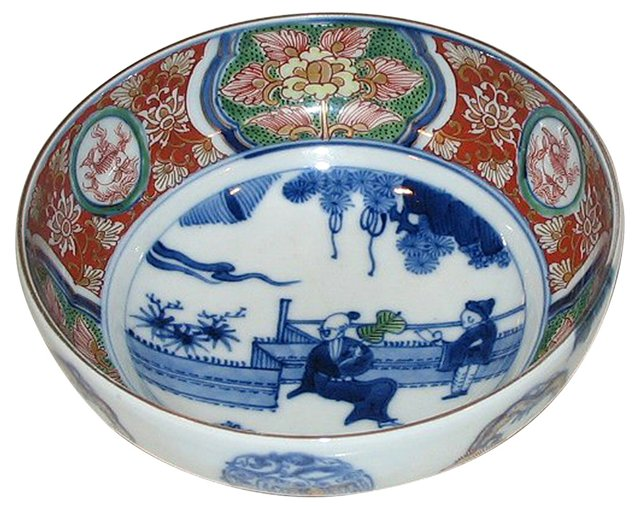 Chinese Bowl w/ Court Figures