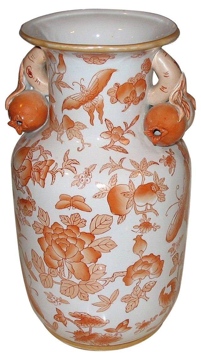 Hand-Painted Pomegranate Handle Vase