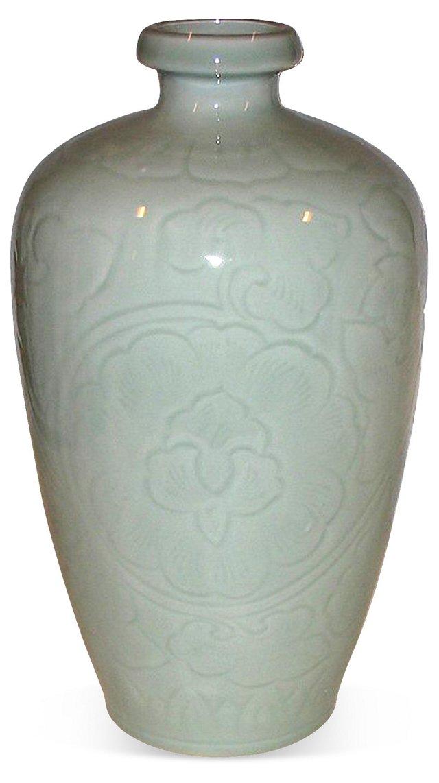 Celadon Porcelain Lotus Vase