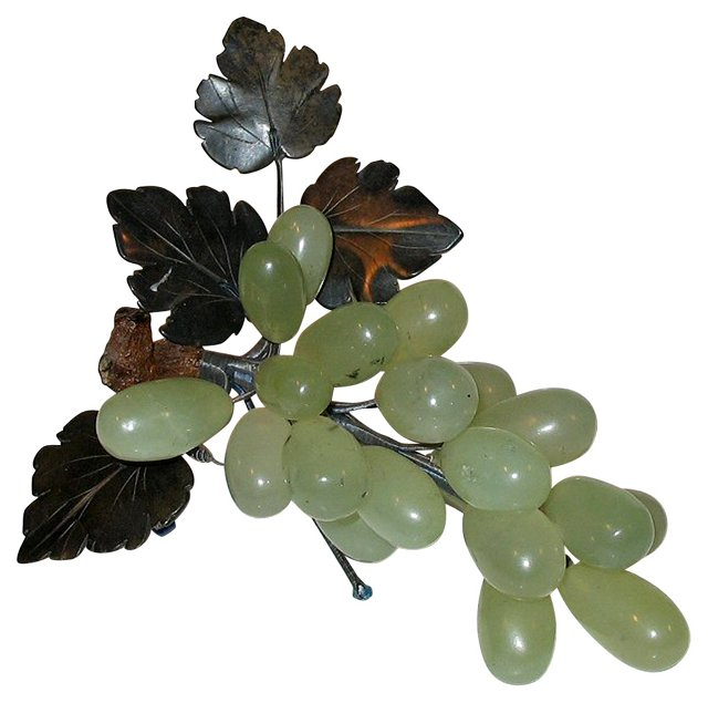 Green Stone Grape Cluster