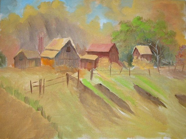 Barns On The Hill