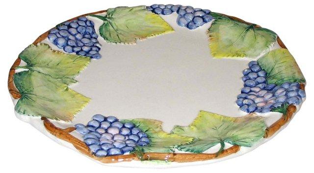 Italian Ceramic Grape Plate