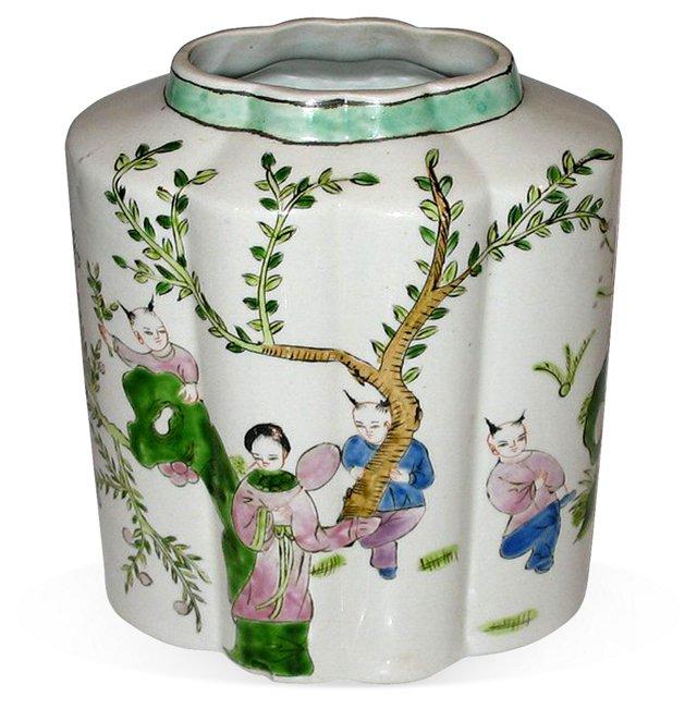 Hand-Painted Chinese Jar