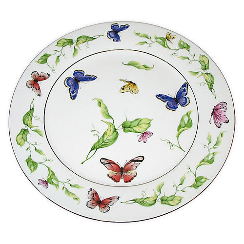 Butterfly Dinner Plates, S/4