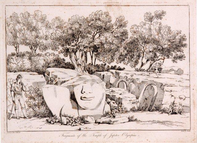 Temple of Jupiter, 19th-C.