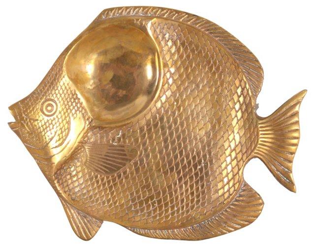 Brass Fish Platter
