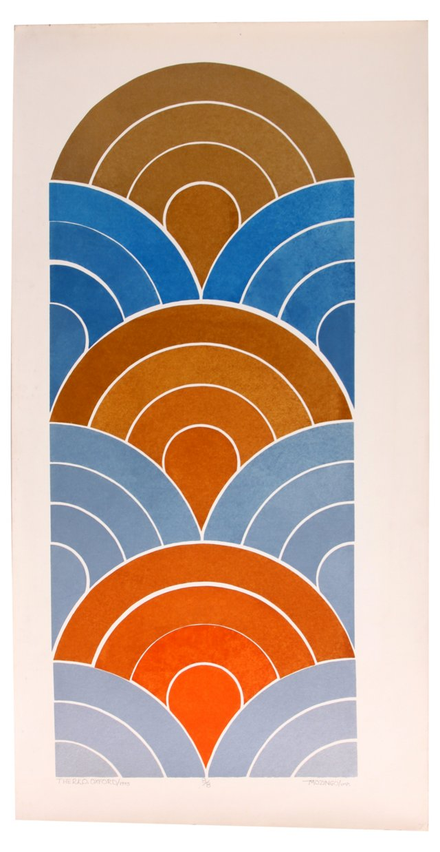 Radial  Blue & Orange, 1973