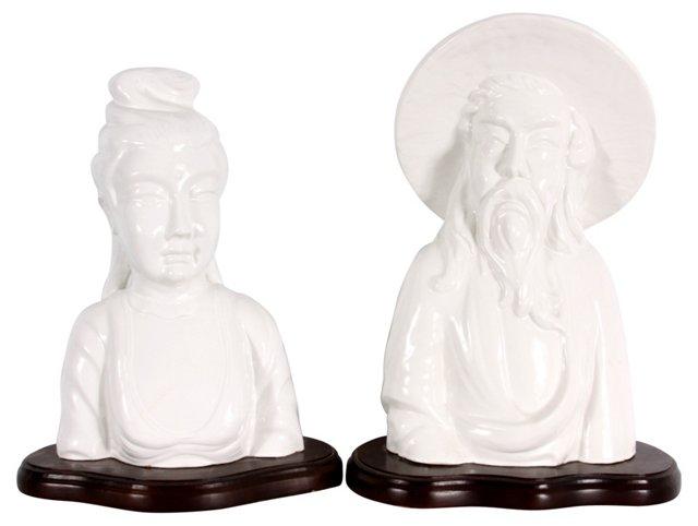 Asian Figurines, Pair