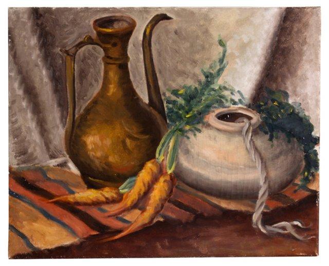 Carrot & Teapot Still Life