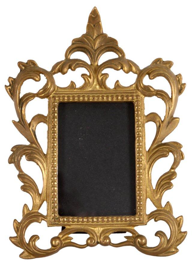 Rococo-Style Brass Frame