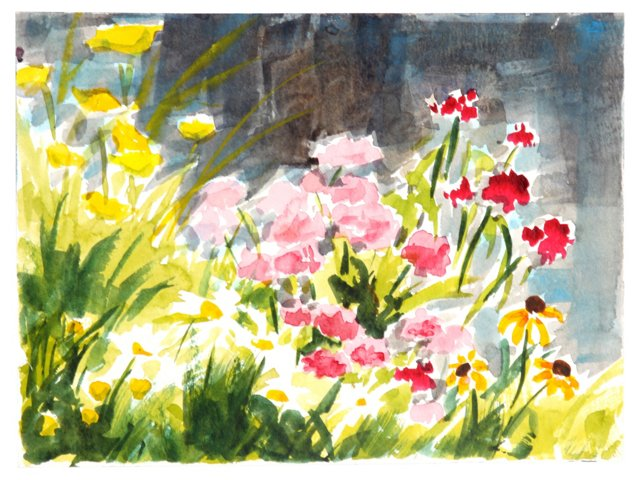 Watercolor Flower Patch
