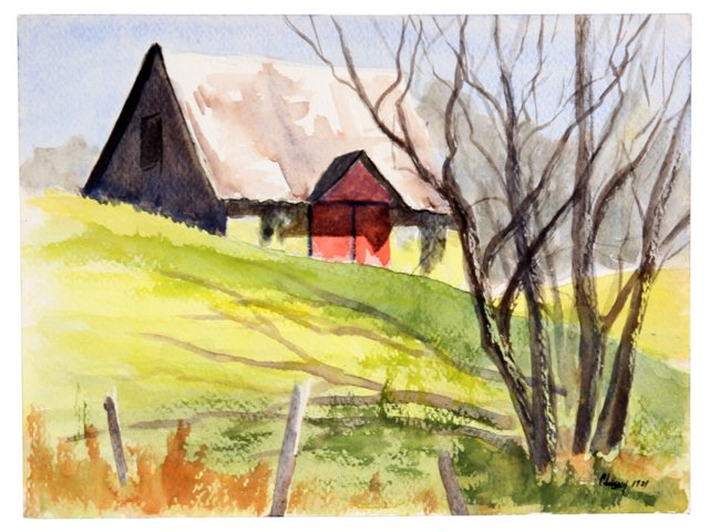 Watercolor Cabin, 1981