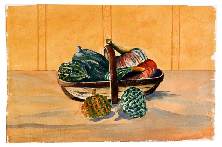 Watercolor Gourds