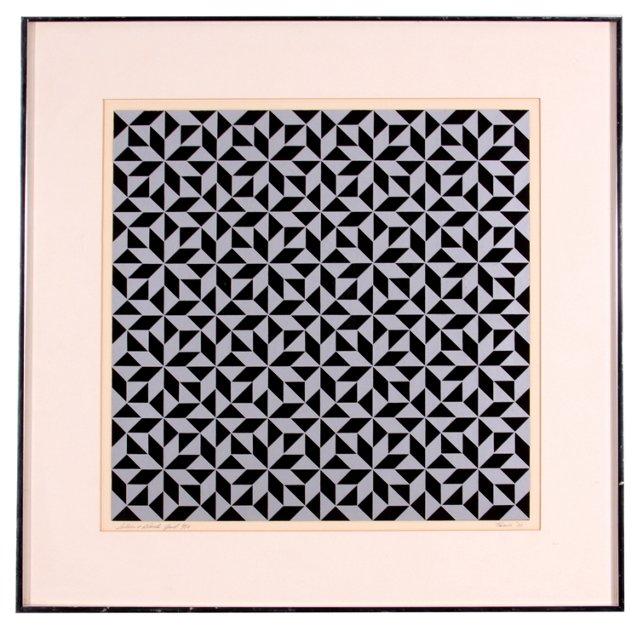 Grid in Silver & Gray, 1973