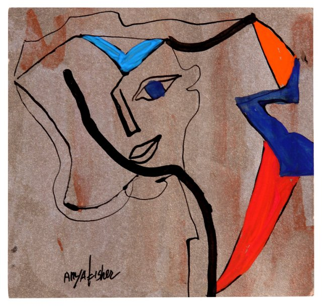 Woman in  Abstract