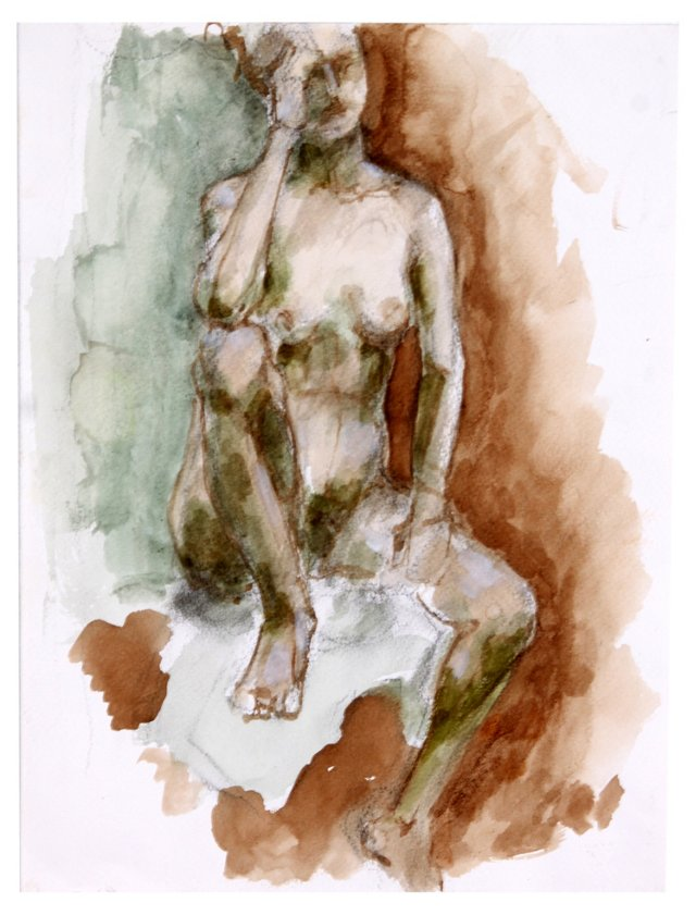Nude in   Watercolor