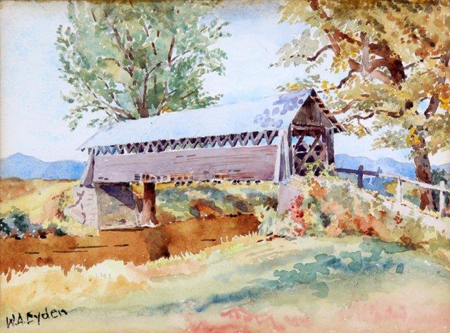 Covered Bridge by W.A. Eyden
