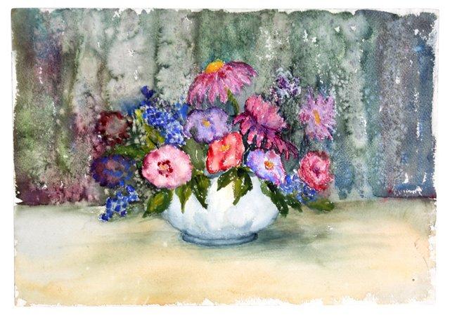 Watercolor Flower Arrangement