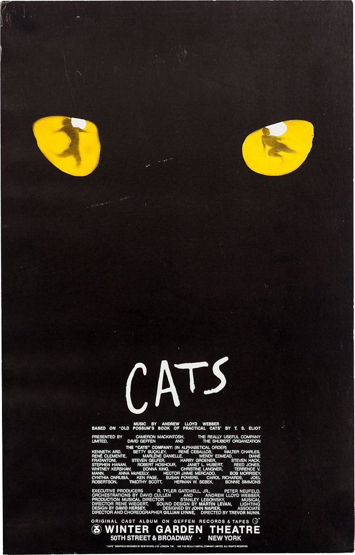 Cats Broadway Poster, 1983