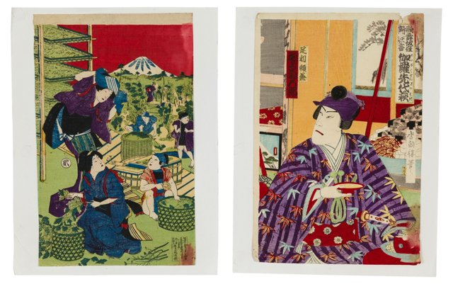 Japanese Woodblock Prints, Pair
