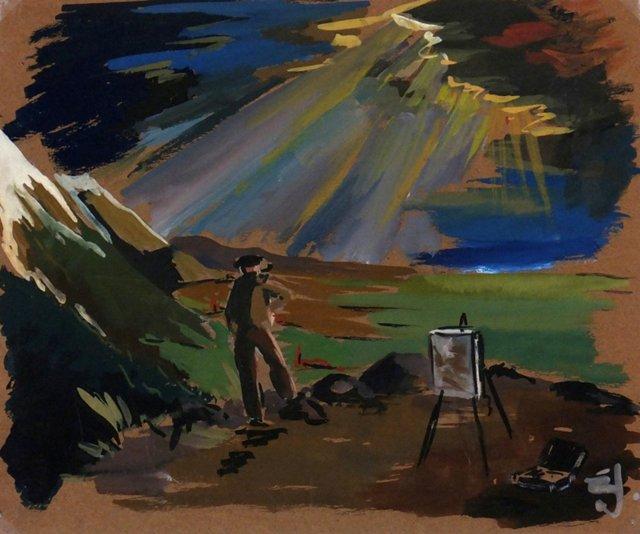 **Chairish-Plein Air Painter, C. 1940