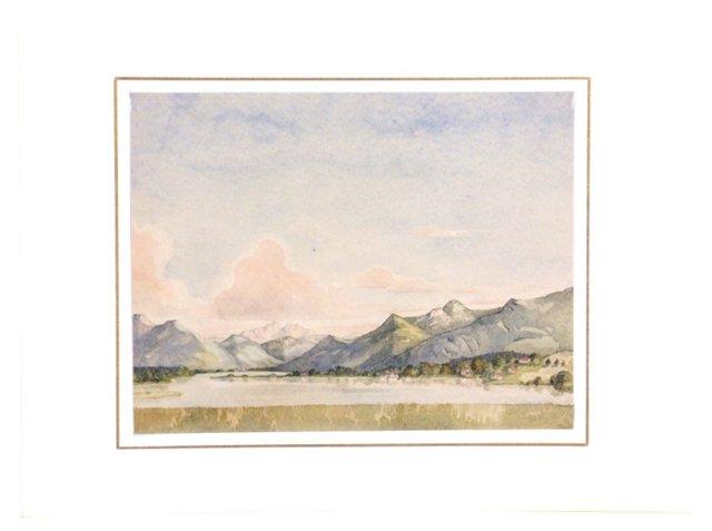 Watercolor Landscape,  C.1930