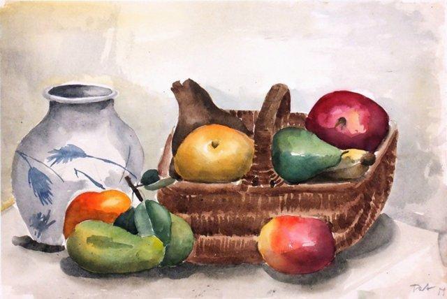 Still Life Watercolor, 1955