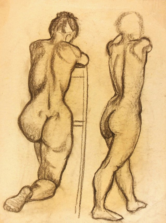 French Nudes Drawing, C. 1930
