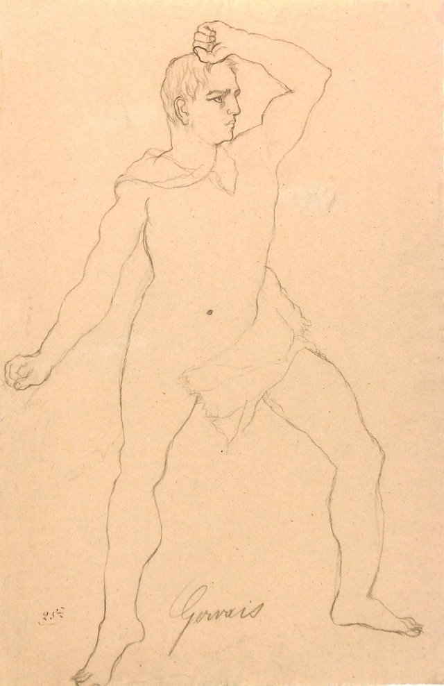 **Chairish - Nude Drawing, C. 1870
