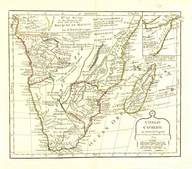 Map of South Africa, 1804