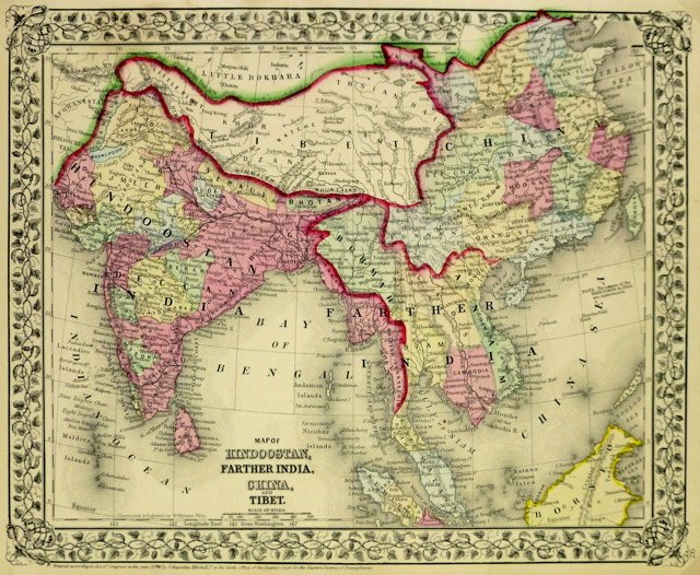 South Asia, 1870