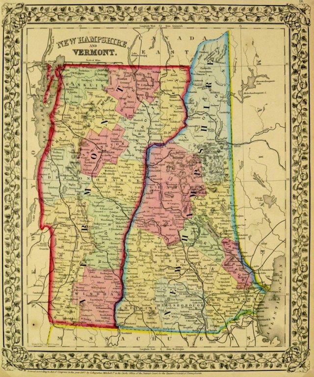 New Hampshire & Vermont, 1870