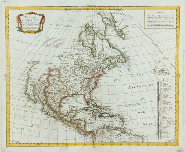 North America, C. 1790