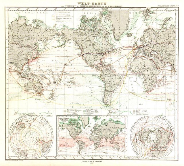 World Transport Map, 1873