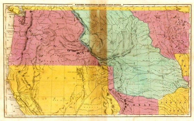 Texas Republic & West Territories, 1847