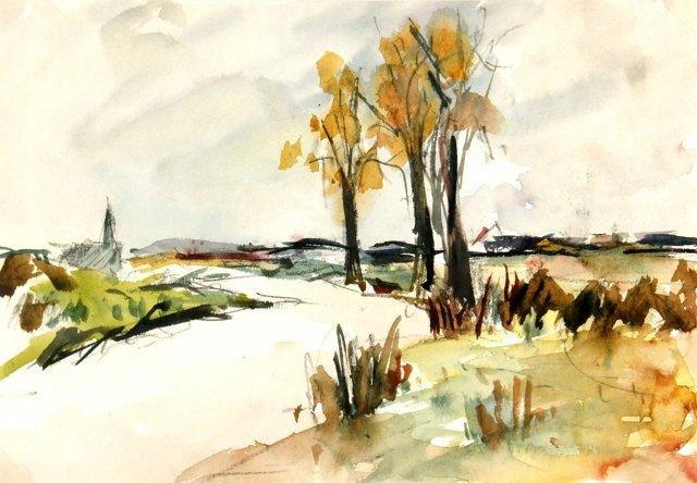 French River Landscape, C. 1950